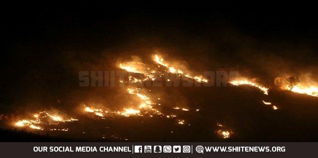 Israeli forces fires phosphorous shells