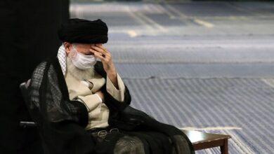 Ayatollah Khamenei at mourning