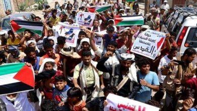 Demonstrators in Socotra
