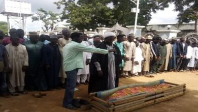 Funeral prayer of Ibrahim who martyred as a result of injuries in Nigeria