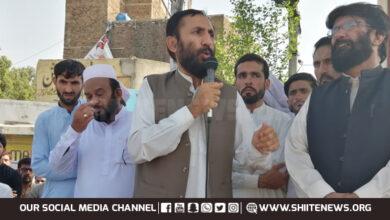 Allama Iqbal Behishti addresses sit in protest