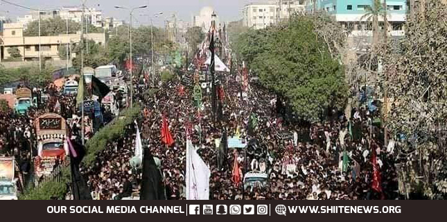Ocean of mourners at Chehlum of Imam Hussain anniversary processions