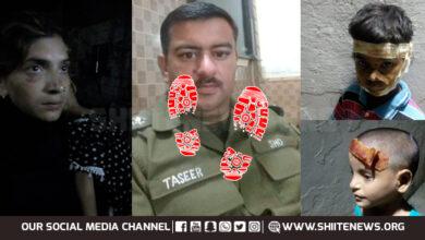 Narowal Police beat Shia women and children severely