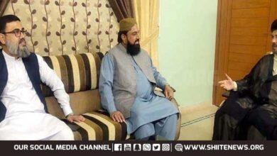 Mufti Gulzar Naeemi meets Allama Baqir Zaidi