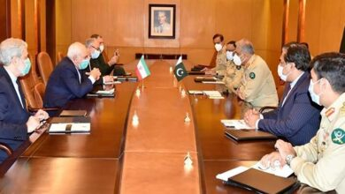 Iran Foreign Minister meets Pakistan Army Chief