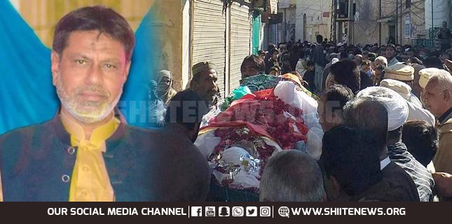 Martyred Shia engineer Zafar Abbas Shah laid to rest