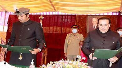 Khalid Khurshid takes oath as Chief Minister