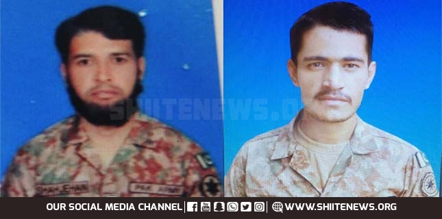 Two soldiers martyred due to Indian troops firing along the Line of Control