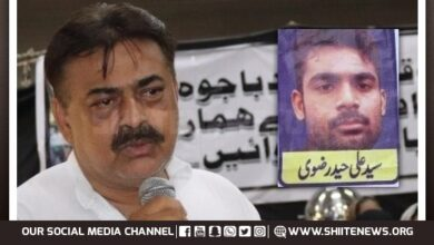 Father of victim of enforced disappearance Ali Haider