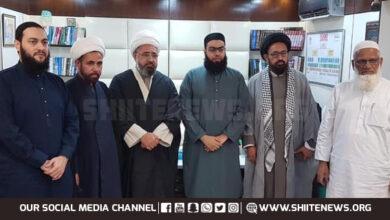 Allama Amin Shaheedi visits Jamia Binouria
