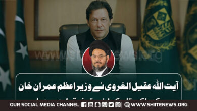 Ayatullah Aqeel ul Gharavi lauds Prime Minister Imran Khan