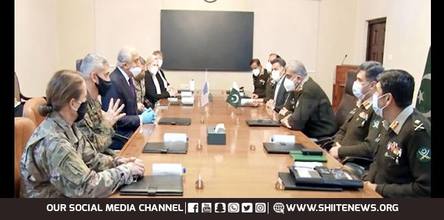 Zalmay Khalilzad and US General meet Pakistan Army Chief