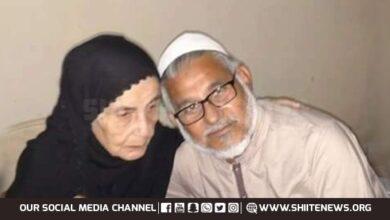 Elderly mother of Allama Hassan Zafar Naqvi passes away