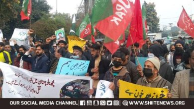 Supporters of ISO and MWM hold joint demo to protest