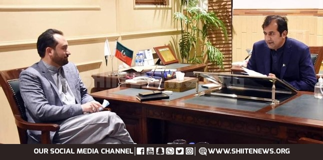 Minister Kazim Meesam calls on Chief Minister