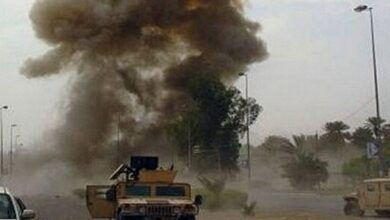 A bomb explodes in way of US convoy in Iraq