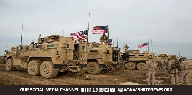 American convoy of 40 armored vehicles and trucks enters Syria from Iraq
