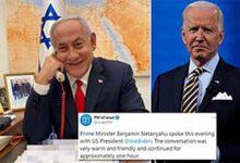 US President Joe Biden first call in Middle East goes to Netanyahu !