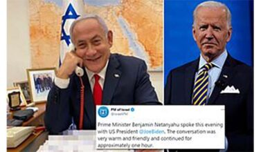 US President Joe Biden first call in Middle East goes to Netanyahu !