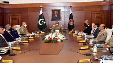 Pakistan military leaders discuss