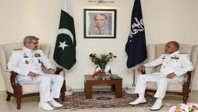 Iranian Naval commander meets Pakistan Navy Chief