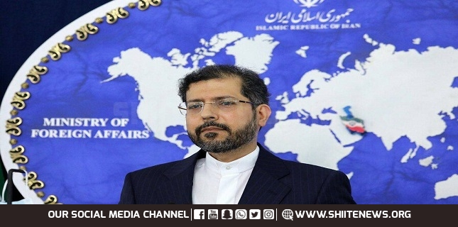 Iran's Foreign Ministry spokesman Saeed Khatibzadeh