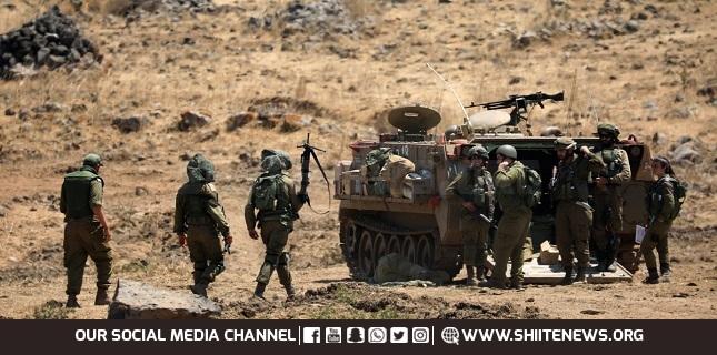 Israeli Occupation Military Holds Drill on Lebanon Border