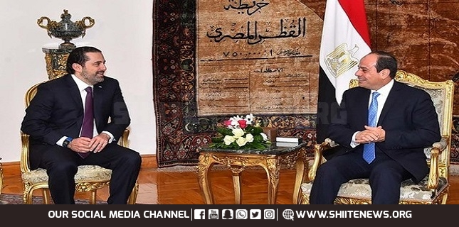 Lebanon's PM-designate Meets with Egyptian President in Cairo