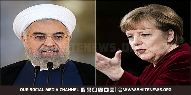 Rouhani tells Merkel Adding anything to nuclear deal 'impossible'