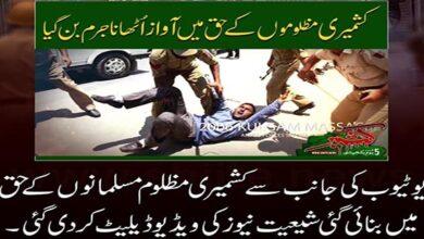 YouTube deletes pro Kashmir video of ShiiteNews