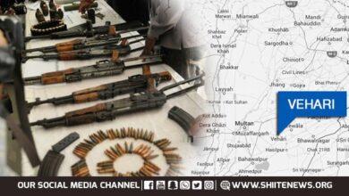 Vehari police seized huge quantity of weapons and foil terror bid