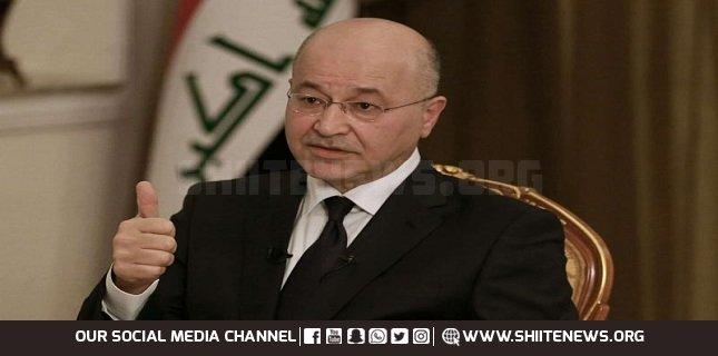 War against terrorism must continue; Iraqi President