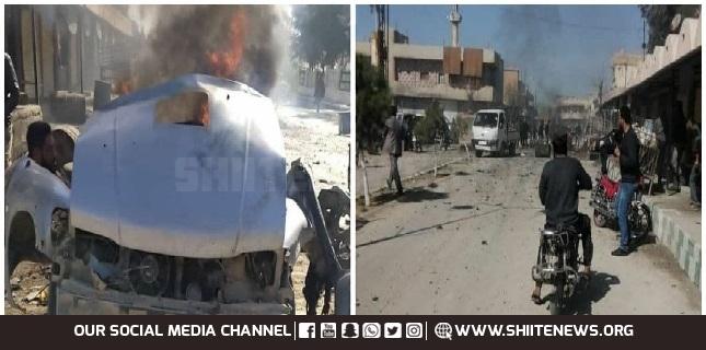 Car bomb blast in the Syrian city of Ras Al-Ain, 4 Civilians killed
