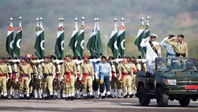 Armed forces hold Pakistan Day military parade in Islamabad