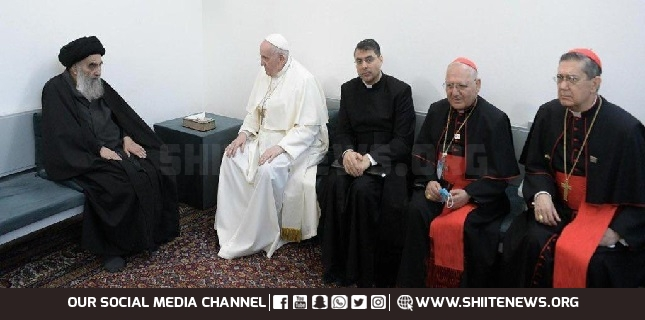 Pope Francis meets Ayatollah Sistani while latter laments sufferings of humanity