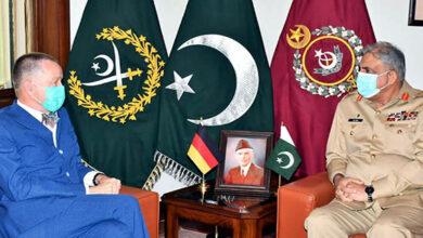 German ambassador acknowledged Pakistan efforts for peace in region