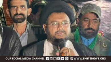 Allama Nazir Taqvi supports protest sit in against enforced disappearance