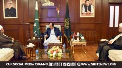Shia Ulema Council leader Allama Arif Wahidi calls on GB Chief Minister