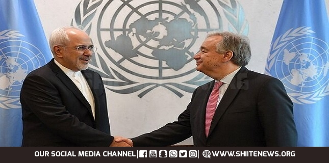 Zarif, Guterres discuss Yemen crisis, stress end to Saudi aggression