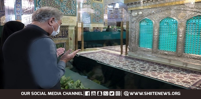 Message of FM Shah Mehmood Qureshi from Holy Shrine of Imam Raza A.S