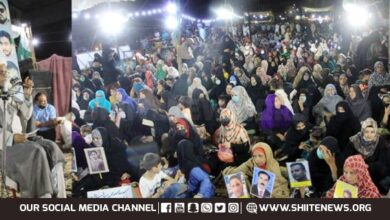 Sit in protest against enforced disappearance of Shias heading to 10th day