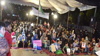 Sit in against enforced disappearance of innocent Shias enter 5th day