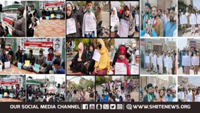 Pakistan Bishop Council and Khaksar Tehreek leaders visit sit in protest