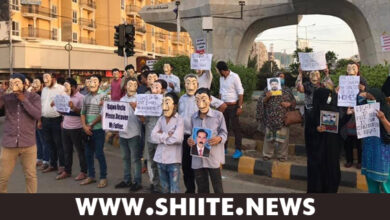 CSP's Unique Protest against forceful disappearance of shia mourners