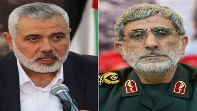 General Esmail Qhaani, Hamas chief discuss latest development