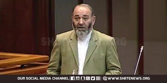 General Raheel Sharif's forces of 40 countries are spectators on Israel's barbarism, Senator Mushtaq Ahmad Khan