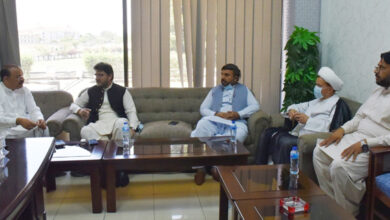 A high level delegation of MWM called on Minister of State for Political Affairs Malik Amir Dogar and discussed important issues