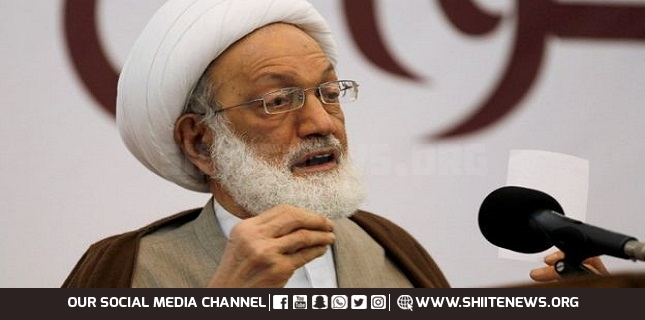Sheikh Isa Qassim called on Manama regime to dialogue with opposition