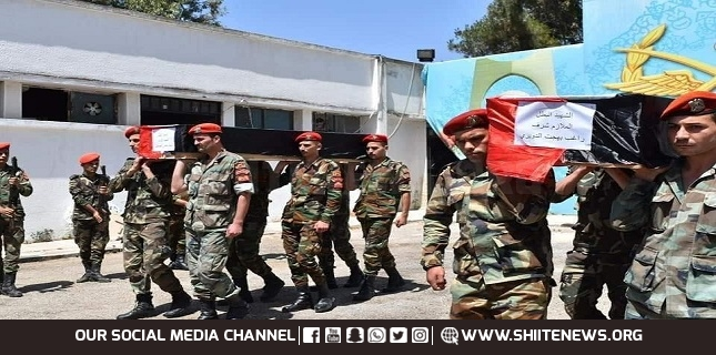 Syrian soldiers martyred
