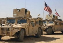 A US military convoy enters Hasakah, Syria